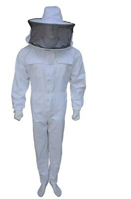 Professional  Beekeeping Suit Beekeeper Jacket Round Veil Full Suit- Small