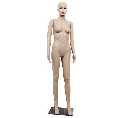 New Female Full Body Realistic Mannequin Display Head Turns Dress Form w/Base