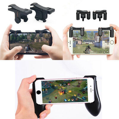 Smartphone Mobile PUBG Shooter Controller Gaming Trigger Fire Button Handle L1R1