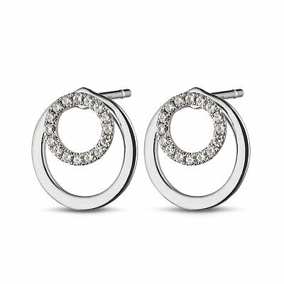 f9a5d8bac 0.16 ct Round-Cut Moissanite Circle Stud Earrings 14K White Gold Over For  Womens