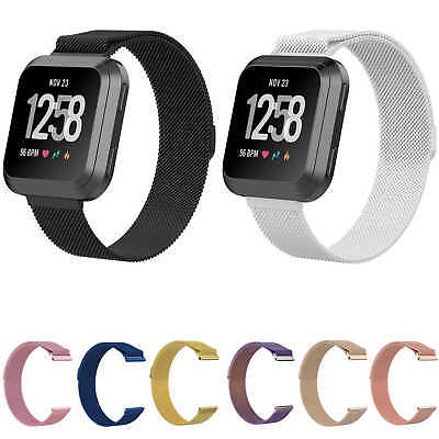 Milanese Loop Strap Stainless Steel Magnetic Closure Watch Band For Fitbit Versa