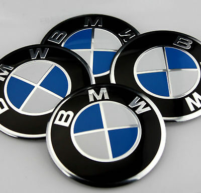 4x 56mm car Refitting Wheel Center Hub Cap Emblem Badge Decal Sticker for BMW