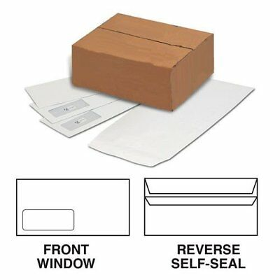 Box of 1000 White Self Seal Window Envelopes - DL 110 x 220mm 80gsm