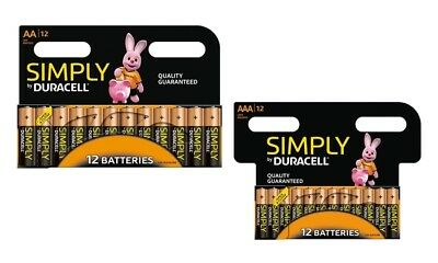 AA / AAA Simply By Duracell Batteries Pack of 12