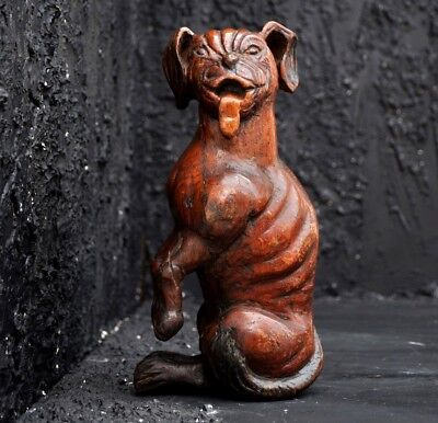 18th Century Hand Carved Dog of Saint Rocco from Italy Rare Religous Artifact