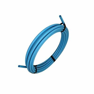 Blue water mains pipe 20mm x 25mt roll MDPE PLASTIC bs approved coil