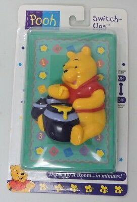 Winnie The Pooh Light Switch Cover Up Down Nursery Bedroom Disney Plate