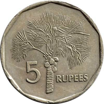 Seychelles 6 Piece Coin Set, 0.01 To 5 Rupees, Free Us Shipping