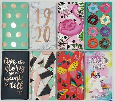 2019-2020 Week to View Slim Academic Mid Diary WTV Hardback Fashion Cover Diary