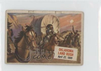 1954 Topps Scoops #38 Oklahoma Land Rush Non-Sports Card 0s4