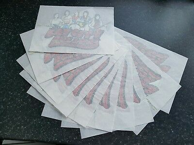 10 VINTAGE/RETRO BAY CITY ROLLERS IRON ON T-SHIRT TRANSFER PRINT SHOP STOCK 70s