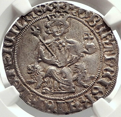 1309AD ITALY Naples King Robert D'Anjou of Anjou MEDIEVAL Silver Coin NGC i69095