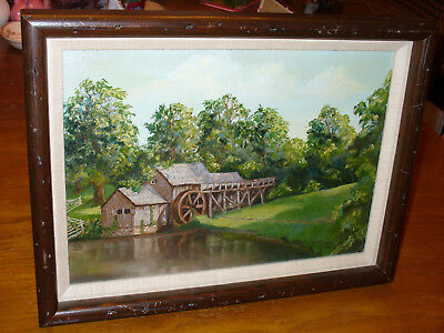 Oil Painting The Old Mill Framed Signed