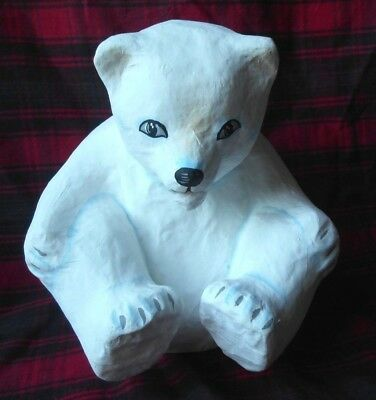 Plus 1 Imports  Vintage Paper Mache Polar Bear 8""