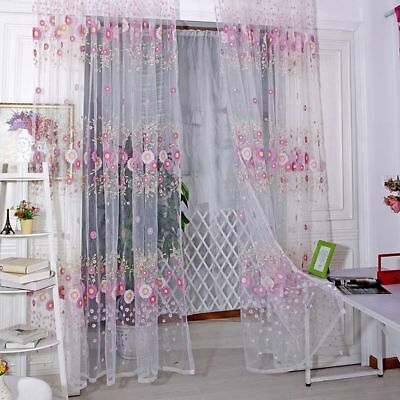 Arrival Sheer Window Tulle Living Room Pattern 1*2 M Sunflower Voile Curtains