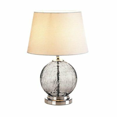 Table Lamps, Gray Cracked Glass Living Room Bedroom Light Lamp Bedside Table