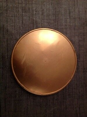 Antique Clock Dust Cover Back Brass 145mm Diameter To Fit Up To 135mm Aperture