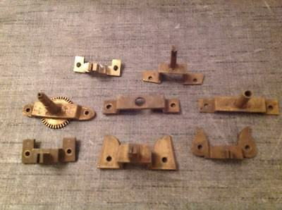 Antique Back Cocks Collection From Clockmakers Spare Parts Box