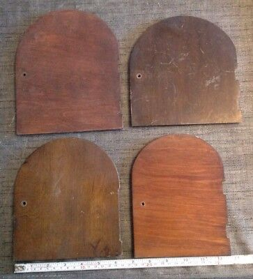 Antique Wooden Mantle Clock Doors