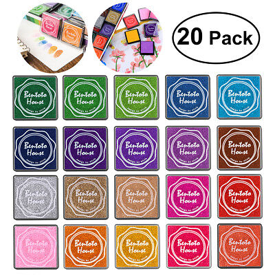 20 Colors Gradient Color Ink Pad Stamp Inkpad Oil Based Fingerprint Scrapbooking