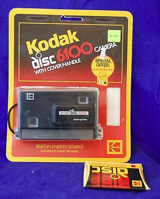 Vintage 1980s Kodak Disc Camera 6100 with Original Packaging