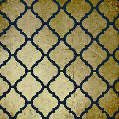 Large Moroccan Stencil Template 11 For Walls Fabric Decoration