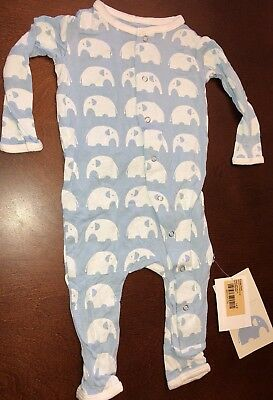Kickee Pants Pond Elephant Infant Boy Coverall 3-6 Months New