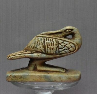 ANCIENT ANTIQUE Egyptian stone IBIS statue  (1500–300 BC