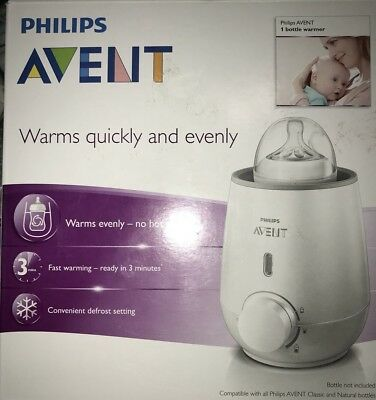 Philips Avent Bottle Warmer Defrost Heats Breast Milk Baby Food New Open Box