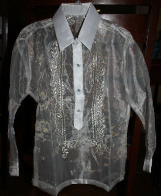 Barong Tagalog For Boys  Size 18 Approximately For 11-12 Years Old Boys