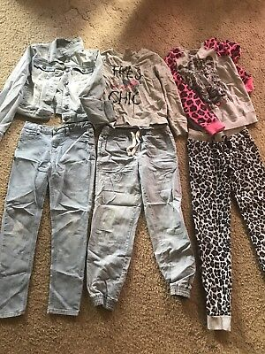 Tween Girls Size 10 Winter Clothing Bundle Denim Jacket Jeans