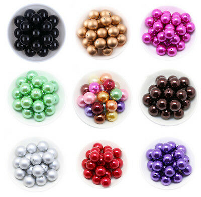 Wholesale 16-30mm ABS Pearl Round Spacer Loose charm Beads DIY  jewelry Findings