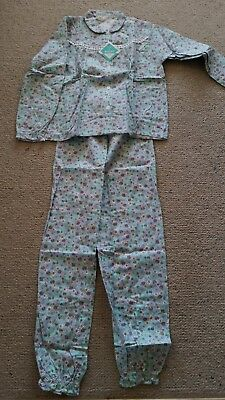 genuine NEW vintage floral flannelette pajamas made in Australia size 10