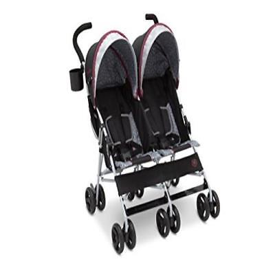9d8a3786943 J Is For Jeep Brand Scout Double Stroller, Lunar Burgundy Soft Lightweight  New