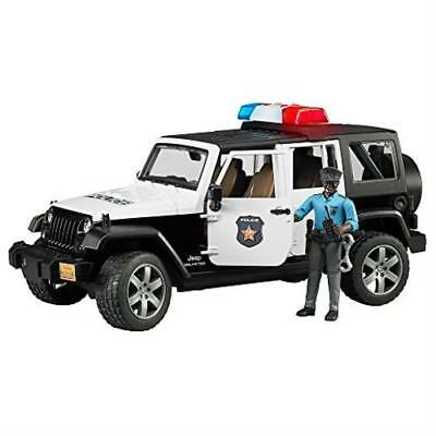 Bruder Jeep Wrangler Unlimited Rubicon Police Vehicle W Dark Skin Policeman Toy
