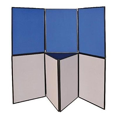 Q CONNECT Display Board with 7 Panel - Blue /Grey