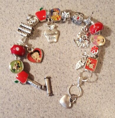 Willabee & Ward BETTY BOOP Charming Year Monthly Charm Bracelet SEPTEMBER