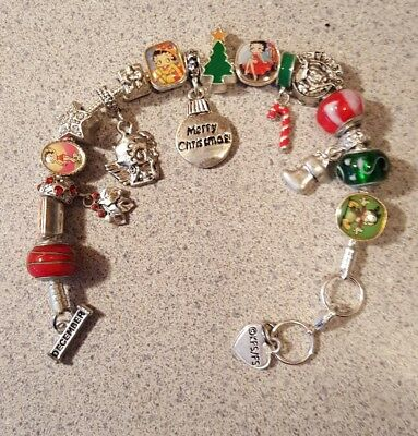 Willabee & Ward BETTY BOOP Charming Year Monthly Charm Bracelet DECEMBER