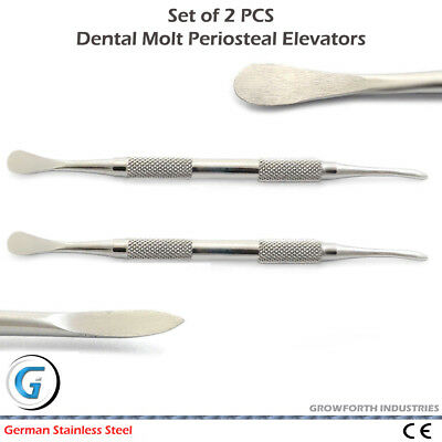 MOLT Periosteal Elevator No. 9 Soft Tissue Implantology Dental Oral Surgery CE