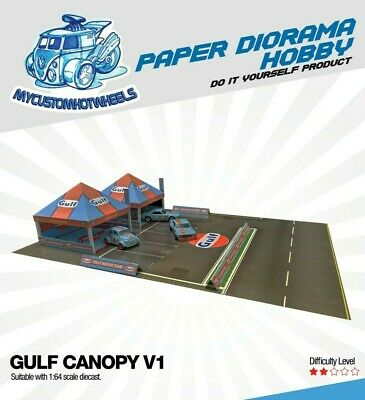 1:64 Diorama Racing Canopy - Gulf, Advan, Ferrari, BRE, Ford, Mooneyes & More