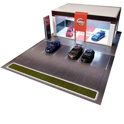 1:64 Diorama Car Showroom Dealerships. Building Kits for Hot Wheels Diecast Cars