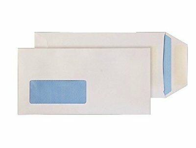 Purely DL 220 x 110 mm Pocket Self Seal Low Window Pack of 1000 White Envelopes