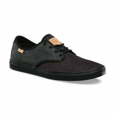 ca560e91dc VANS Ludlow (Stealth Fleck) Black Leather UltraCush Skate Men s 7.5 Women s  9