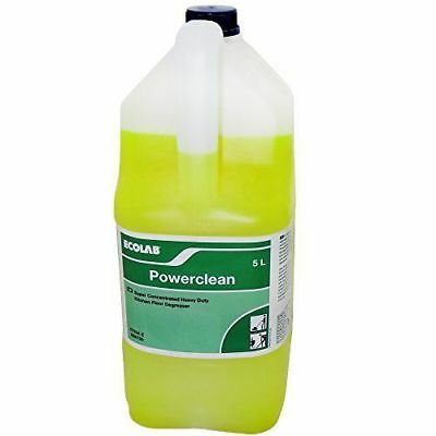 Ecolab Powerclean Super Concentrated Heavy Duty Kitchen Floor Degreaser 5L