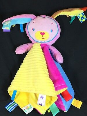 Bunny Security Blanket Baby Lovey by Taggies Patchkins Pal Rabbit