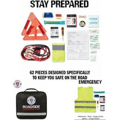 Auto Emergency Kit 125 Piece Multipurpose Emergency Pack Roadside Assistance New