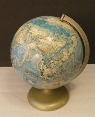 Vintage Rand McNally World Portrait Globe Soviet Union Era Raised Topography USA