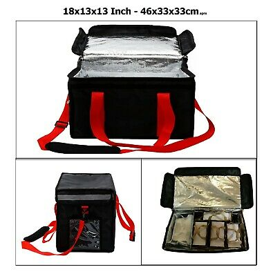 """Heavy Duty Hot Food Takeway Delivery Bag 16""""x13""""x10"""" Kebab.Indian.Chinese pizza"""