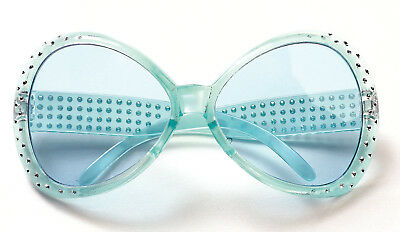 Blue 70's That's Hot Glasses Pop Rock Star Elton John Teen to Adult Size