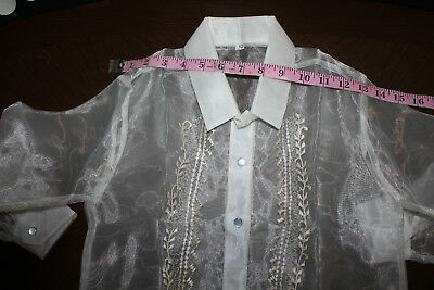 Barong Tagalog For Boys  Size 12  May Fit To 7-8 Years Old Boys